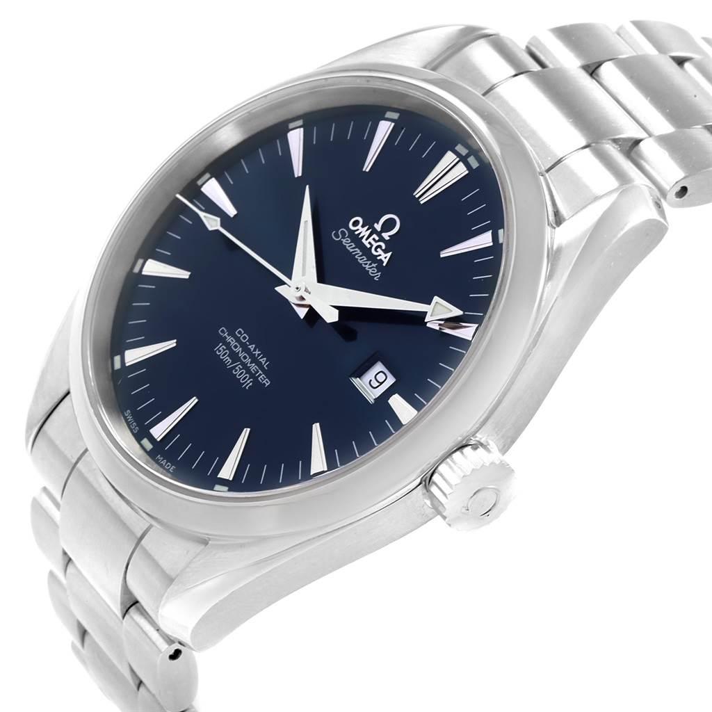 19448 Omega Seamaster Aqua Terra 42mm Blue Dial Steel Mens Watch 2502.80.00 SwissWatchExpo