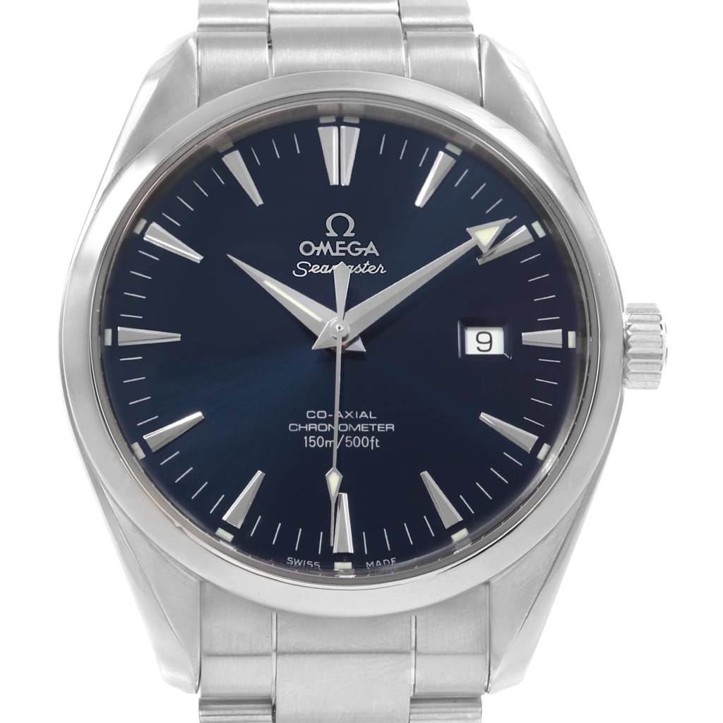 Omega Seamaster Aqua Terra 42mm Blue Dial Steel Mens Watch 2502.80.00 SwissWatchExpo