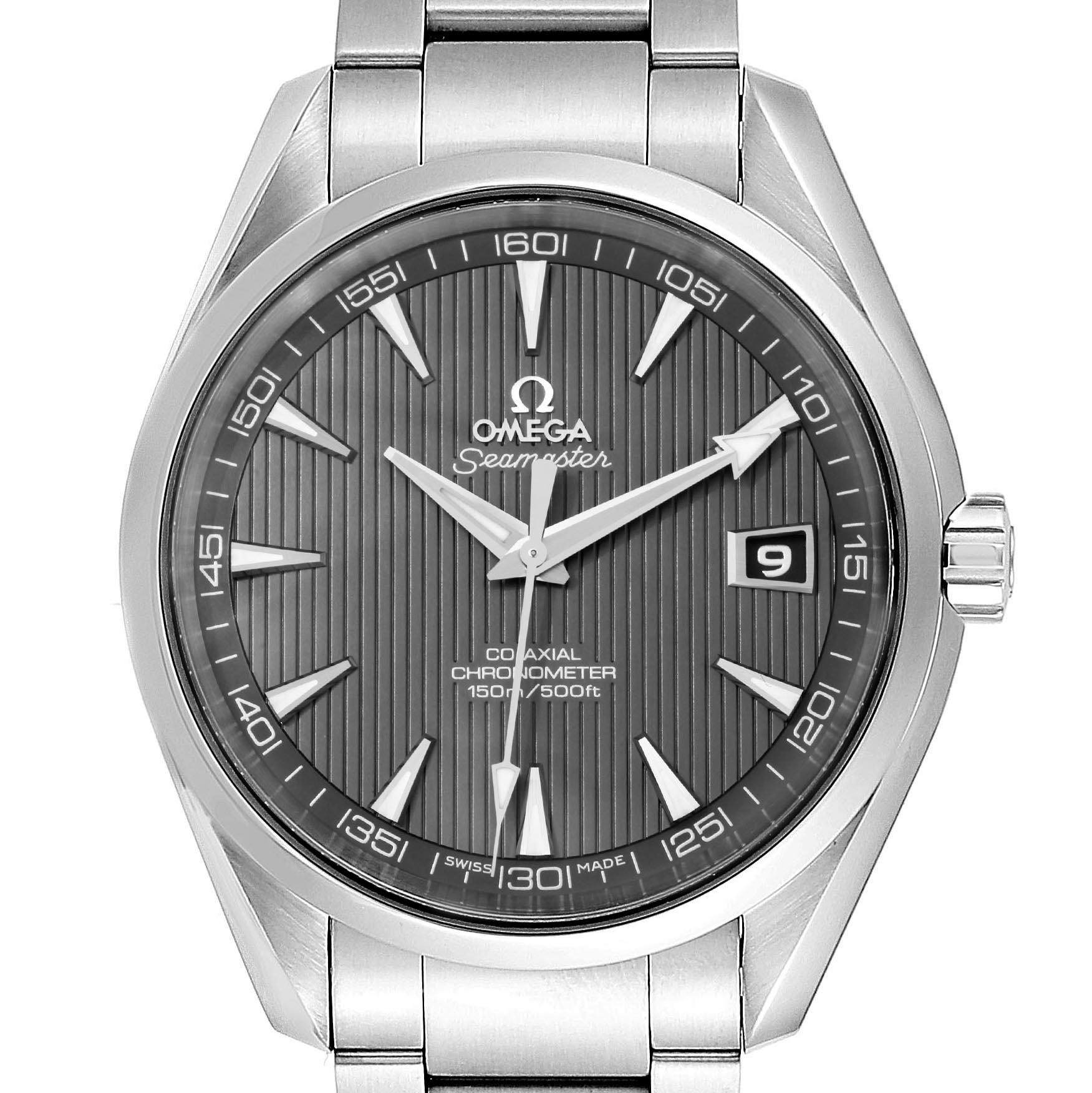 Omega Seamaster Aqua Terra Grey Dial Steel Mens Watch 231.10.42.21.06.001