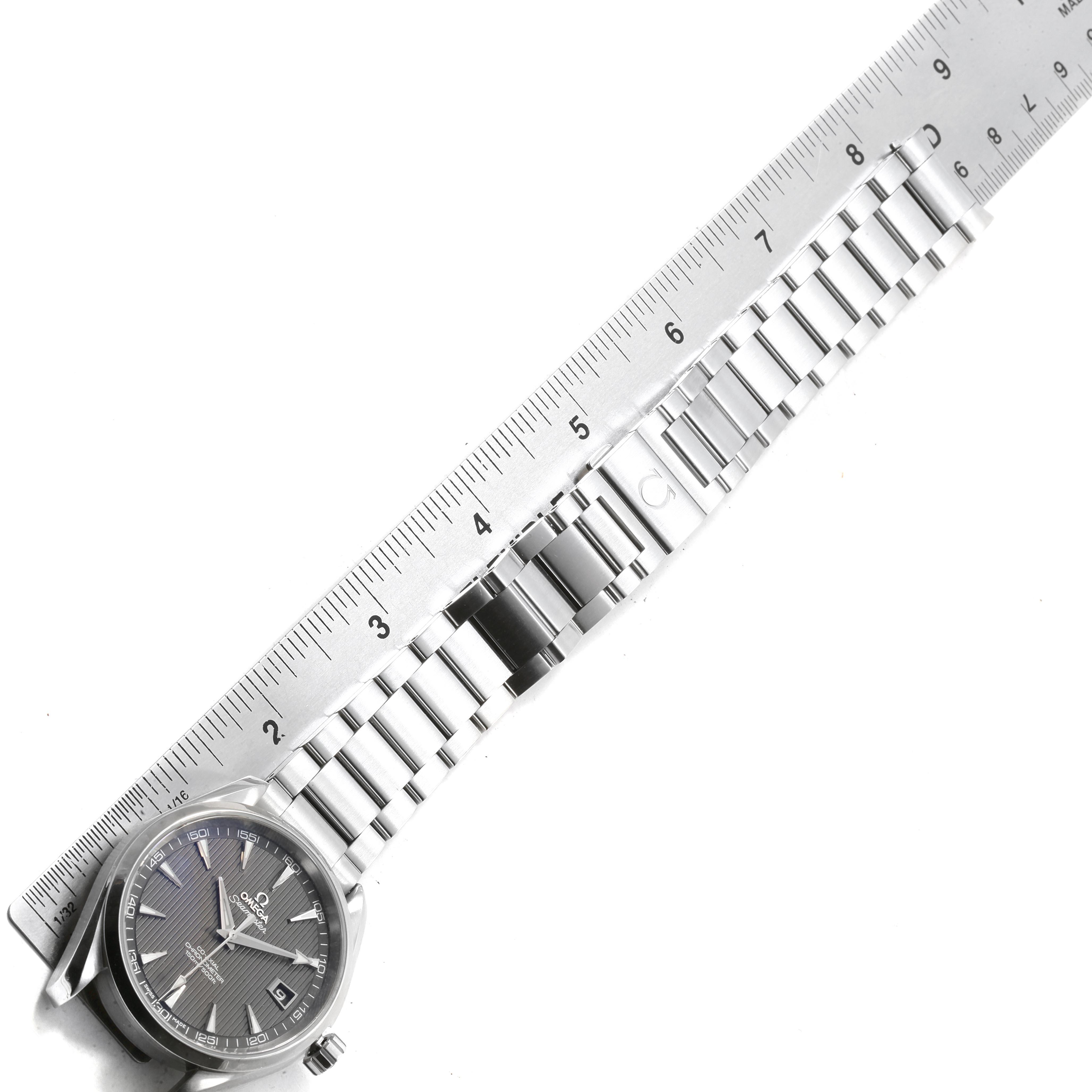 Omega Seamaster Aqua Terra Grey Dial Steel Mens Watch 231.10.42.21.06.001 Card SwissWatchExpo