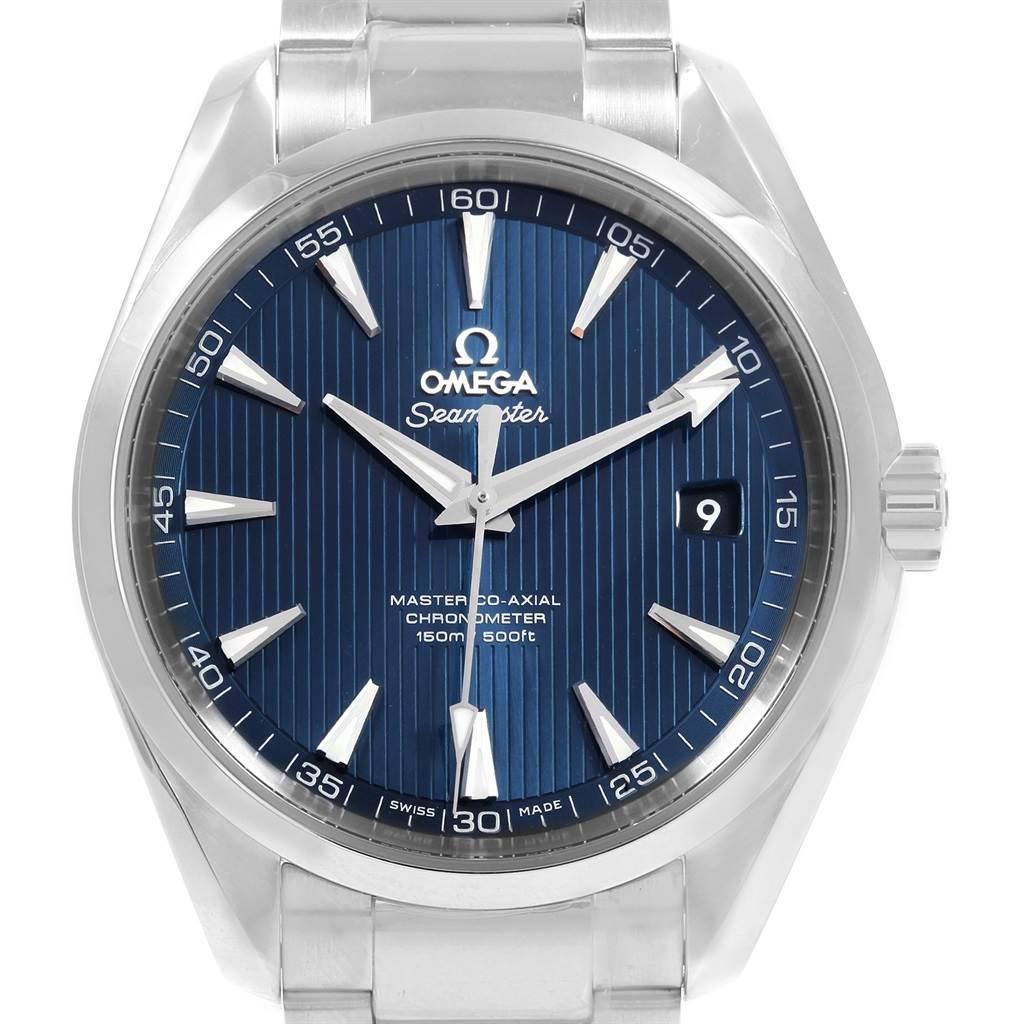 20009 Omega Seamaster Aqua Terra Blue Dial Watch 231.10.42.21.03.003 Unworn SwissWatchExpo