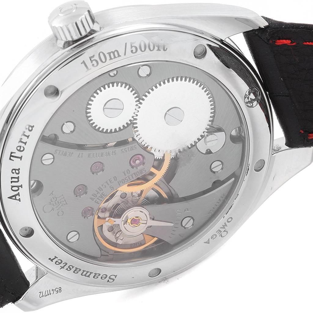 21261 Omega Aqua Terra Railmaster XXL Teak Dial Watch 231.13.49.10.06.001 SwissWatchExpo