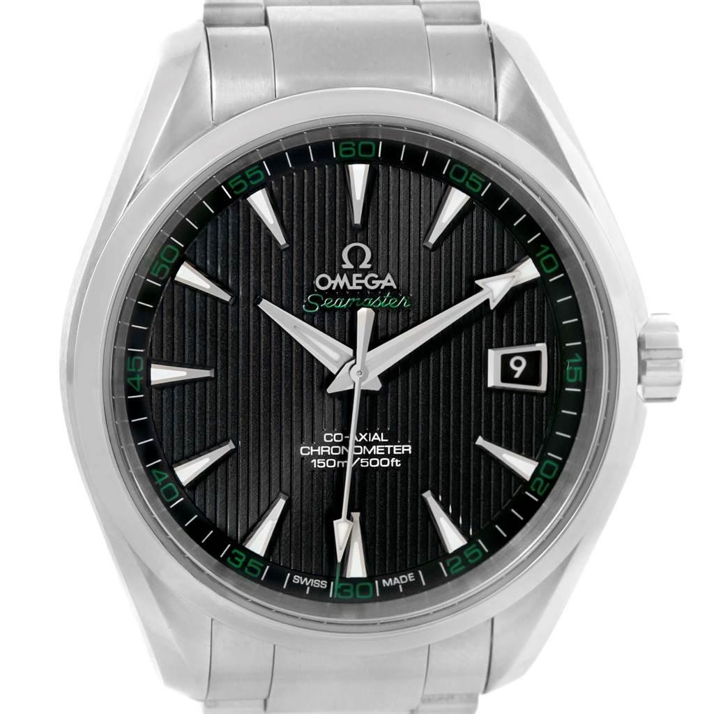 21302 Omega Seamaster Aqua Terra Golf Edition Mens Watch 231.10.42.21.01.001 SwissWatchExpo