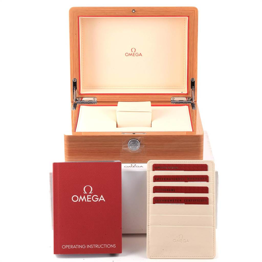22022 Omega Aqua Terra Railmaster China Explorer Limited Watch 2512.54.00 Box Card SwissWatchExpo