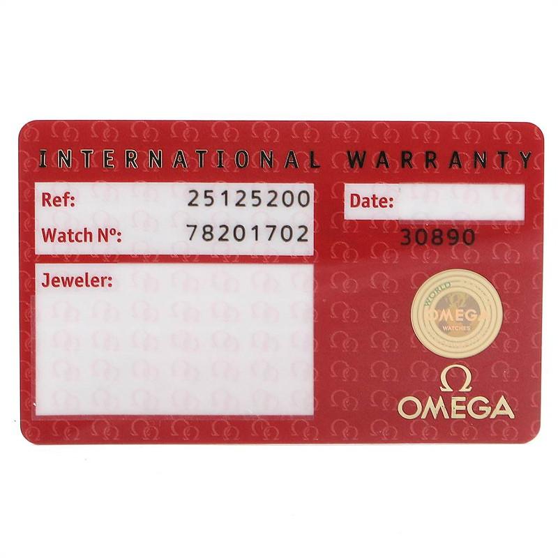Omega Aqua Terra Railmaster Mens Chronograph Watch 2512.52.00 Card SwissWatchExpo