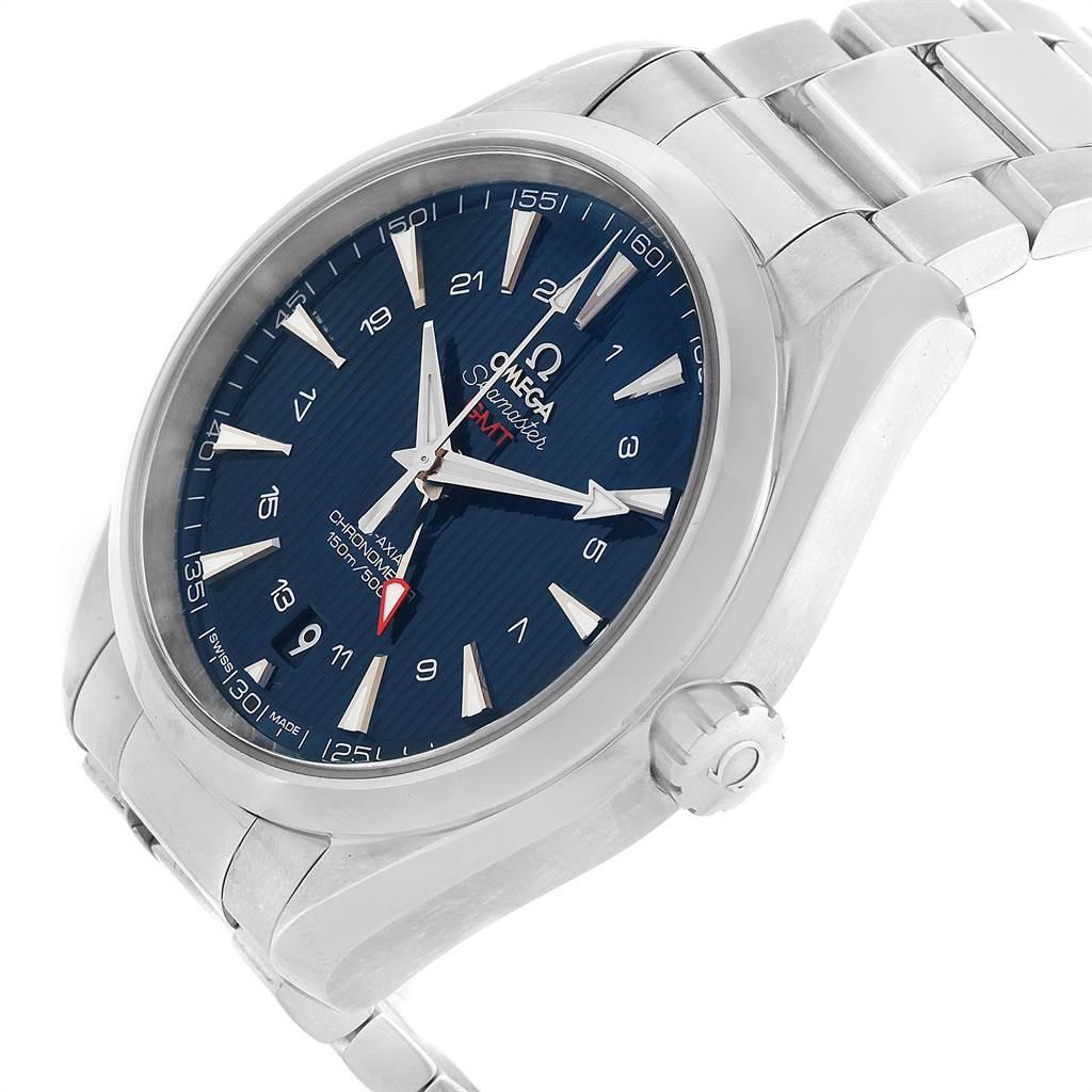 Omega Seamaster Aqua Terra GMT Co-Axial Watch 231.10.43.22.03.001 SwissWatchExpo
