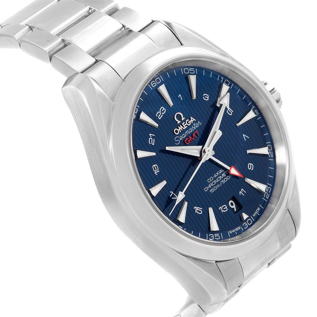 23539 Omega Seamaster Aqua Terra GMT Co-Axial Watch 231.10.43.22.03.001 SwissWatchExpo