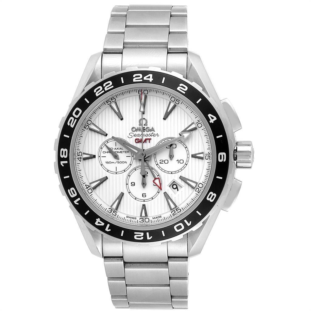 Omega Seamaster Aqua Terra GMT Steel Mens Watch 231.10.44.52.04.001 SwissWatchExpo