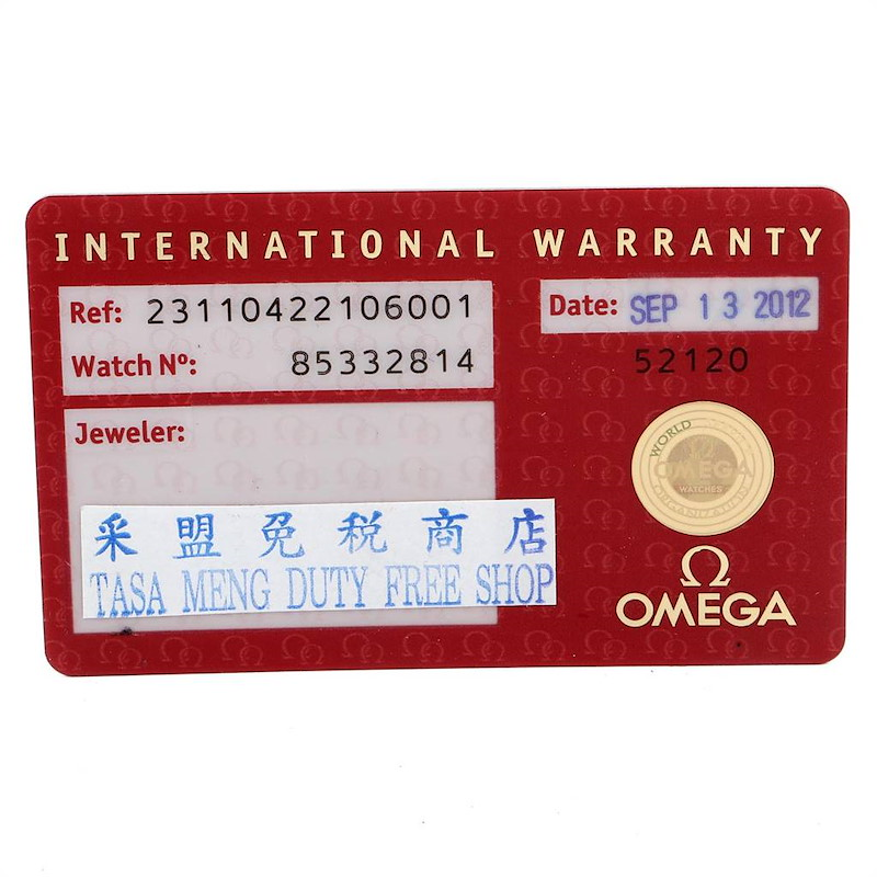 Omega Seamaster Aqua Terra Co-Axial Mens Watch 231.10.42.21.06.001 Card SwissWatchExpo