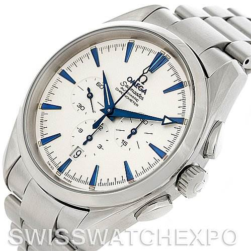 4163 Omega Seamaster Aqua Terra XL Automatic Chronograph Watch 2512.30 SwissWatchExpo