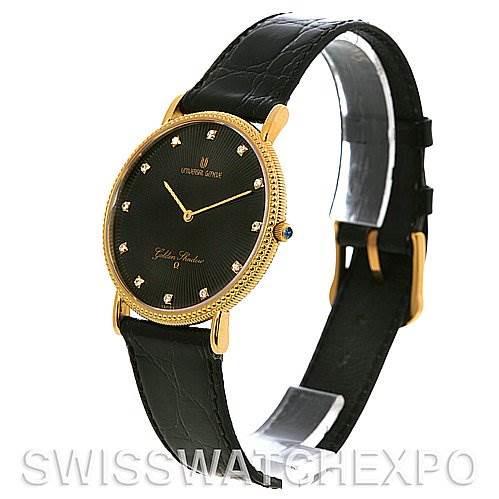 Universal Geneve Golden Shadow 18k Yellow Gold Vintage Watch NOS SwissWatchExpo
