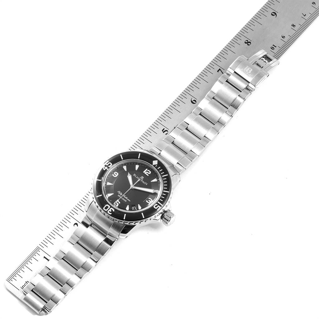 24769 Blancpain Fifty Fathoms Flyback Steel Mens Watch 5015-1130-71 Box Card SwissWatchExpo