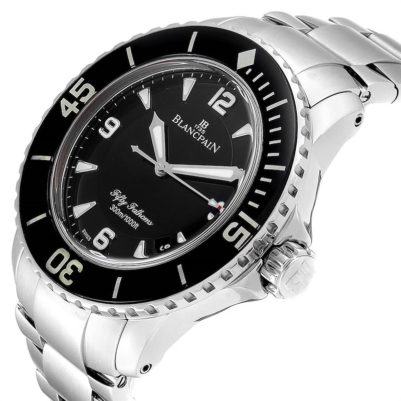 Blancpain Fifty Fathoms Flyback Steel Mens Watch 5015-1130-71 Box Card SwissWatchExpo