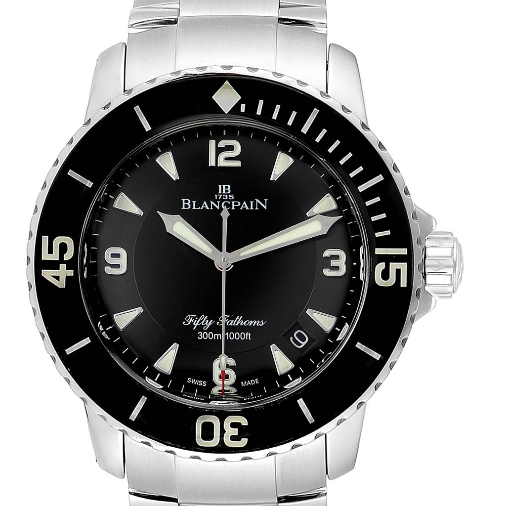 Photo of Blancpain Fifty Fathoms Flyback Steel Mens Watch 5015-1130-71 Box Card