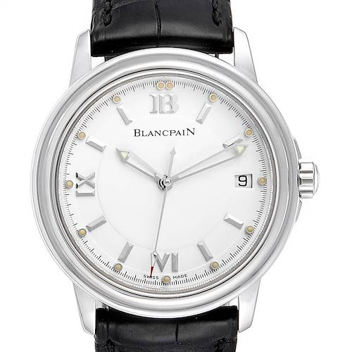 Photo of Blancpain Leman Ultra Slim White Dial Steel Mens Watch 2100 Box Papers