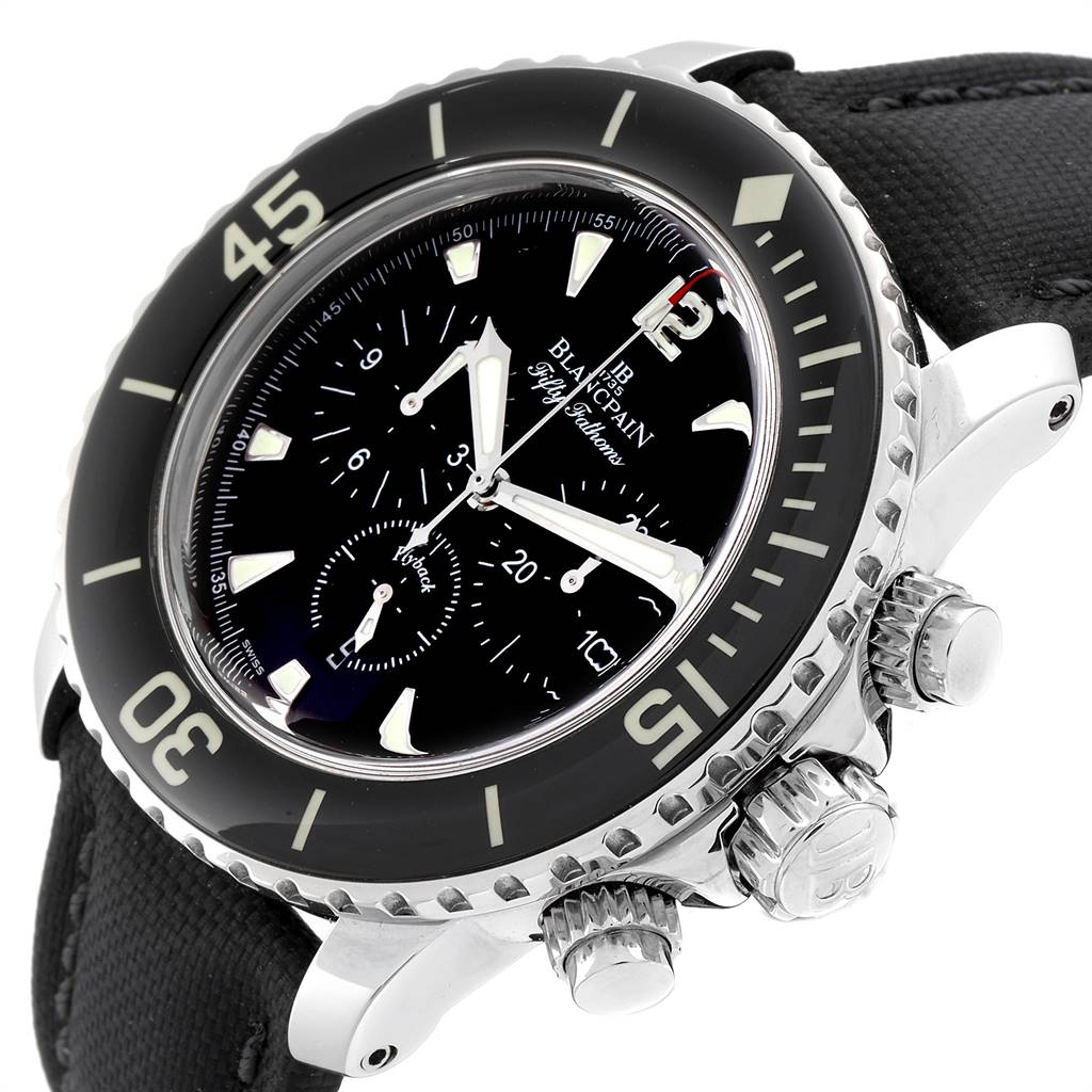 24952 Blancpain Fifty Fathoms Flyback Flyback Chronograph Mens Watch 5085F SwissWatchExpo