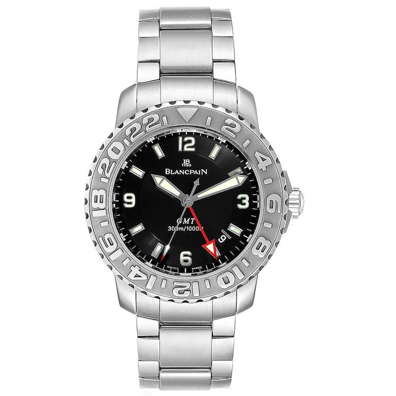 Blancpain Fifty Fathoms Trilogy GMT Steel Mens Watch 2250 SwissWatchExpo