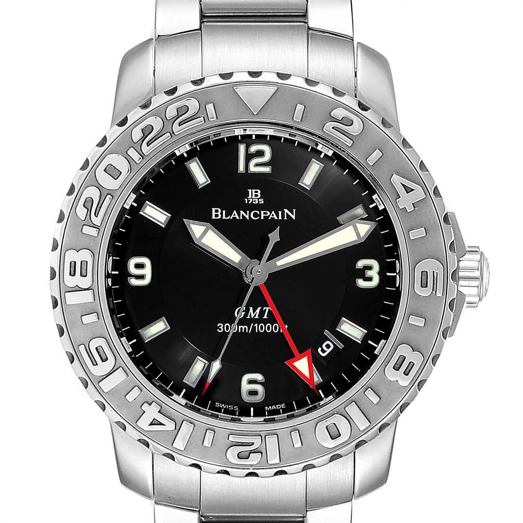 25292 Blancpain Fifty Fathoms Trilogy GMT Steel Mens Watch 2250 SwissWatchExpo