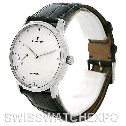 Blancpain Villeret Ultra Slim 40mm White Gold Watch 4040-1542-55 SwissWatchExpo