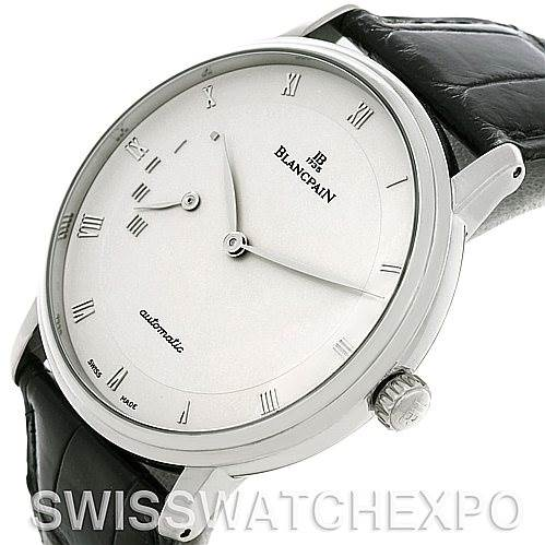 5243 Blancpain Villeret Ultra Slim 40mm White Gold Watch 4040-1542-55 SwissWatchExpo