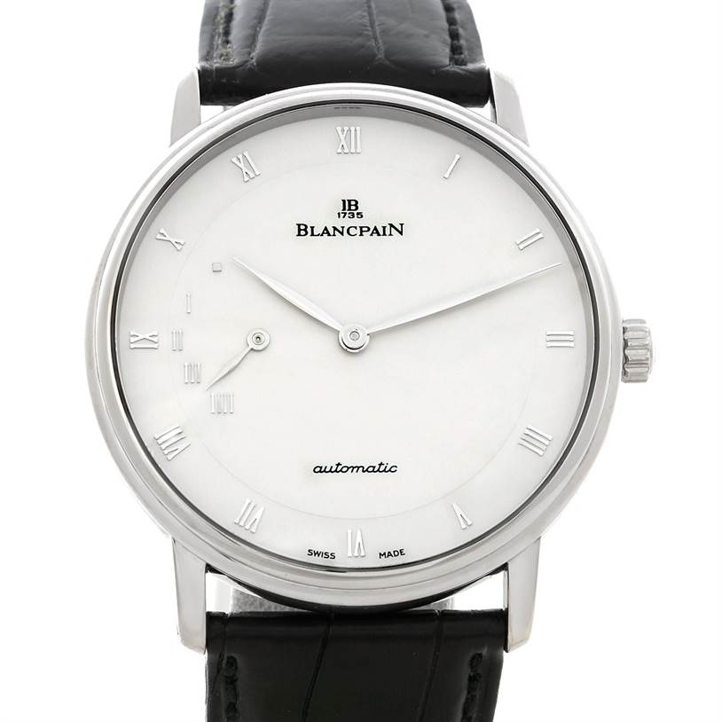 Blancpain Villeret Ultra Slim 40mm White Gold Watch 4040-1542-55 SwissWatchExpo