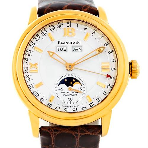 Photo of Blancpain 18K Yellow Gold Complete Calendar Watch 2763-1418A-53