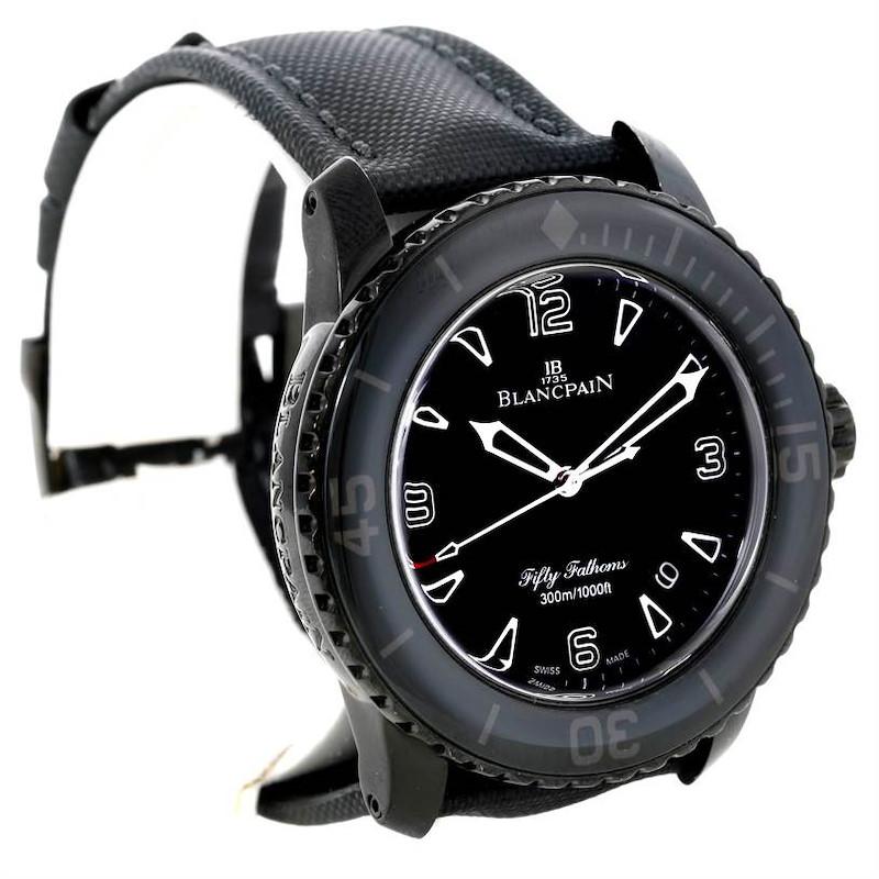 Blancpain Fifty Fathoms Dark Knight Black PVD Watch 5015-11C30-52 SwissWatchExpo
