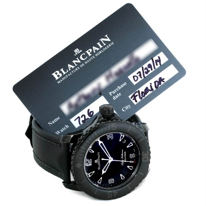 Blancpain Fifty Fathoms Dark Knight Black PVD Watch 5015-11C30-52 SwissWatchExpo
