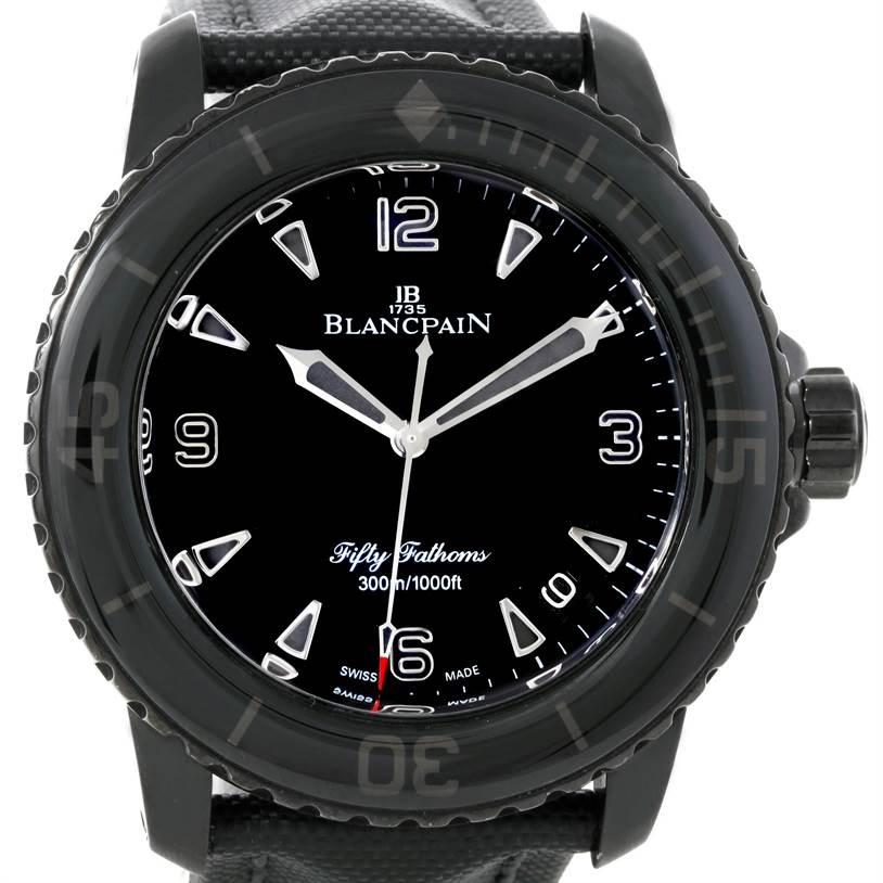 Photo of Blancpain Fifty Fathoms Dark Knight Black PVD Watch 5015-11C30-52