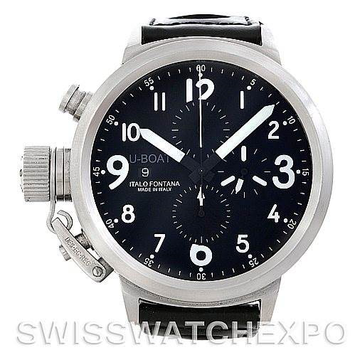 U-Boat Flightdeck Steel Automatic Mens Watch 7750 50 SwissWatchExpo