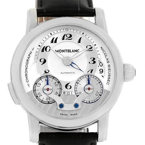 Photo of MontBlanc Nicolas Rieussec Chronograph Silver Dial Mens Watch 106595