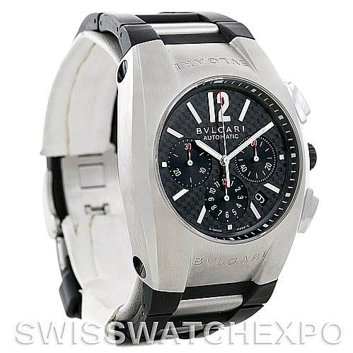 Bvlgari Ergon Mens Automatic Stainless Steel Chronograph Watch EG 40 SCH SwissWatchExpo