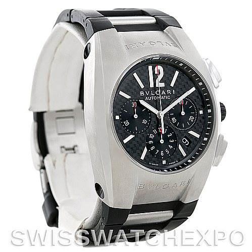 Bvlgari Ergon Mens Automatic Stainless Steel Chronograph Watch EG 40 SCH SwissWatchExpo