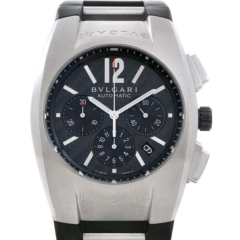 5561 Bvlgari Ergon Mens Automatic Stainless Steel Chronograph Watch EG 40 SCH SwissWatchExpo