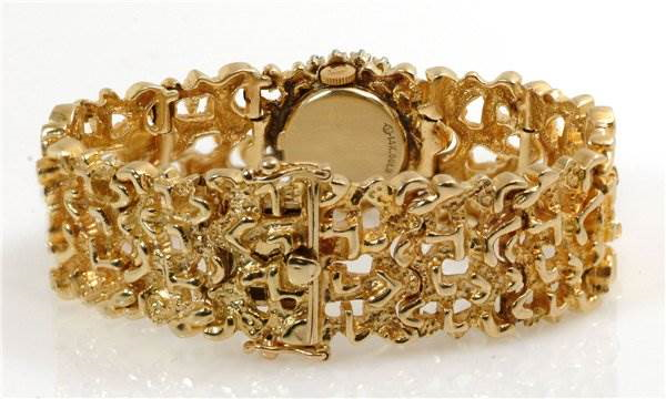 Rolex Vintage Ladies 14k Yellow Gold w Diamond Watch SwissWatchExpo
