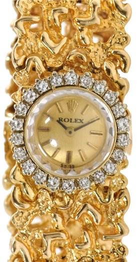 Rolex Vintage Ladies 14k Yellow Gold w Diamond Watch