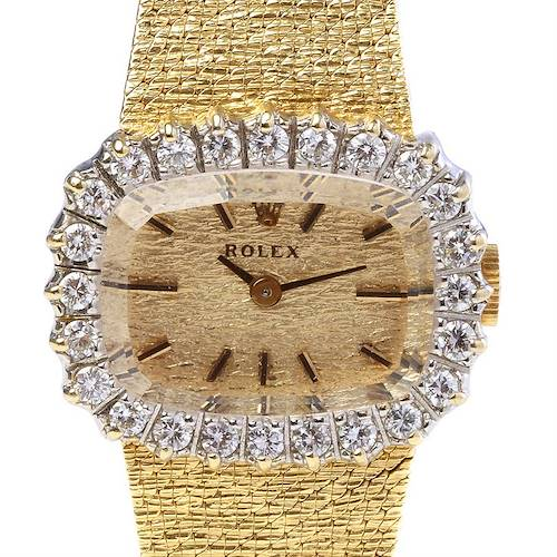 Photo of Rolex Vintage Ladies 14k Yellow Gold w Diamond Watch