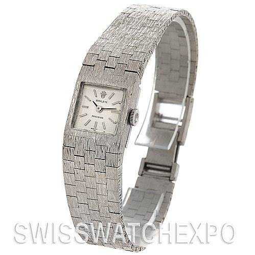 Rolex Ladies 18k White Gold Vintage Watch SwissWatchExpo