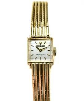 Photo of Rolex Vintage Ladies 18k Yellow Gold Rolex Precision Watch