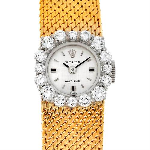 Photo of Rolex Vintage Ladies 18k Yellow Gold Diamond Watch