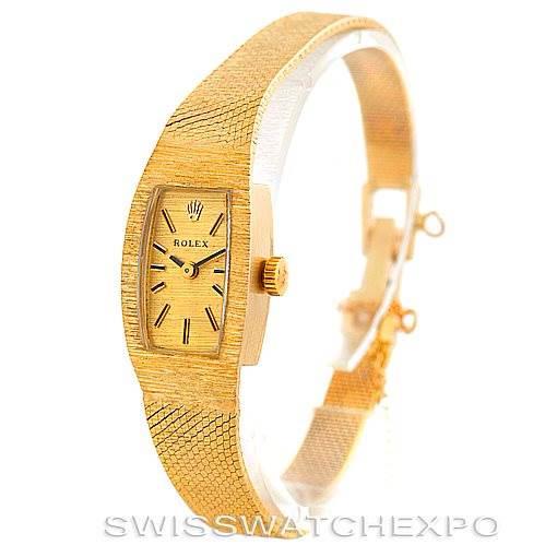Rolex Ladies 14k Yellow Gold Vintage Watch 8422 SwissWatchExpo