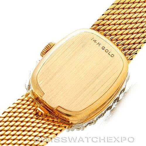 Rolex Vintage Ladies 14k Yellow Gold Diamond Cocktail Watch 8265 SwissWatchExpo