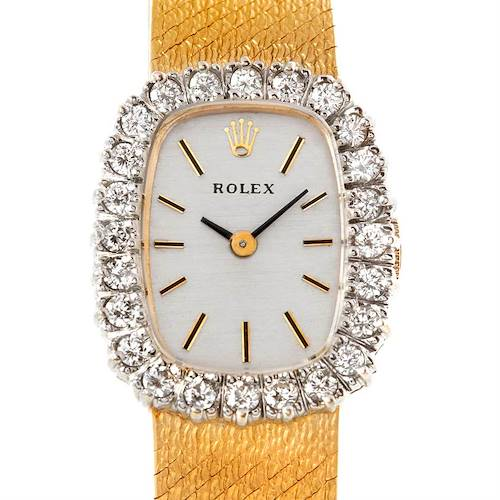 Photo of Rolex Vintage Ladies 14k Yellow Gold Diamond Cocktail Watch 8265