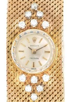 Photo of Rolex 18k Yellow Gold Diamond Vintage Cocktail Ladies Watch
