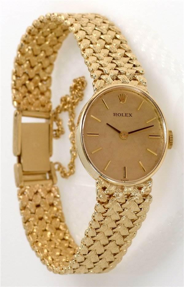 rolex vintage 14k yellow gold