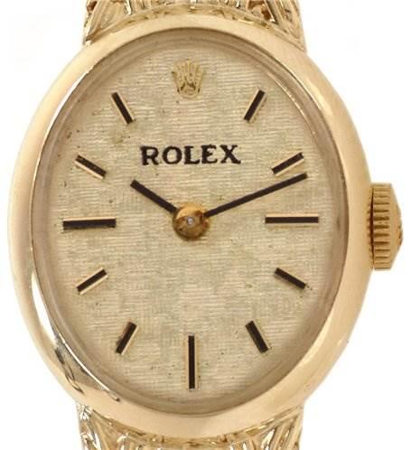 Rolex Vintage Ladies 14k y Gold Watch SwissWatchExpo