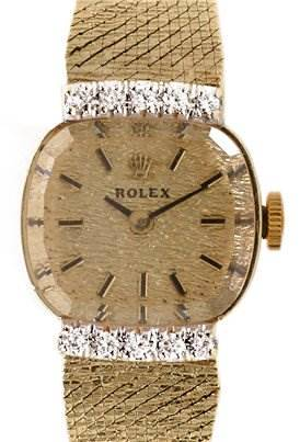 Photo of Rolex Vintage Ladies 14k y Gold & Diamond Watch