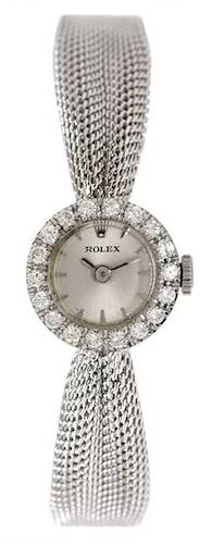 Photo of Rolex Vintage Ladies White Gold Diamond Watch