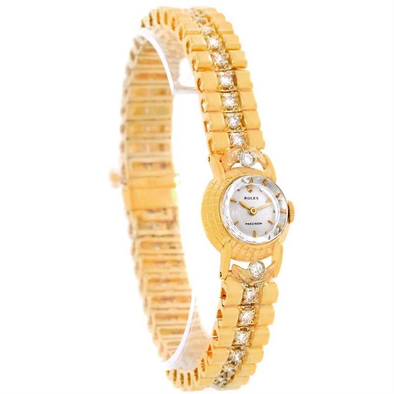 Rolex Orchid Vintage Yellow Gold Diamond Cocktail Ladies Watch 8271 SwissWatchExpo