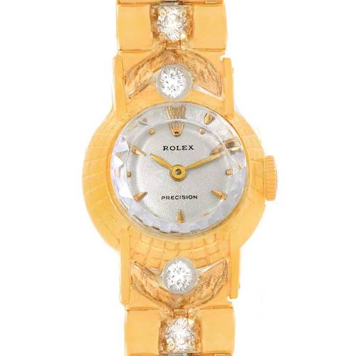Photo of Rolex Orchid Vintage Yellow Gold Diamond Cocktail Ladies Watch 8271